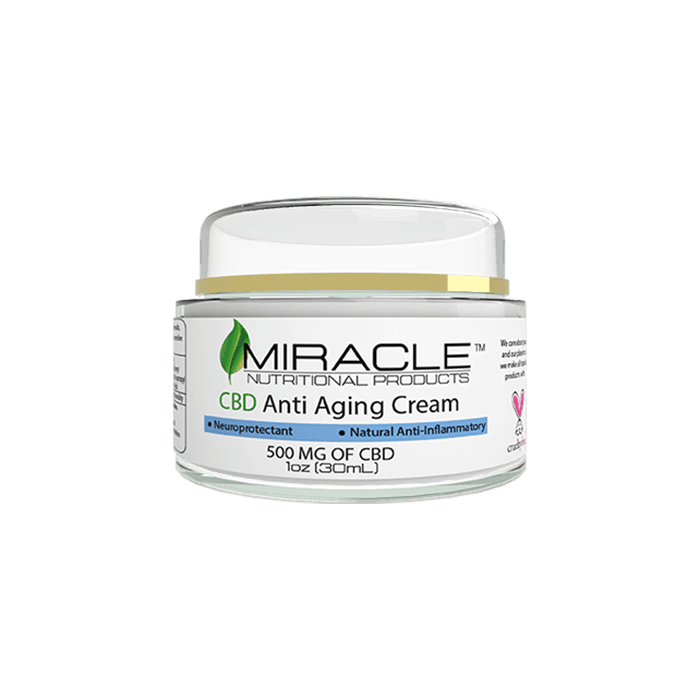 Front view of Miracle CBD Anti Aging Cream