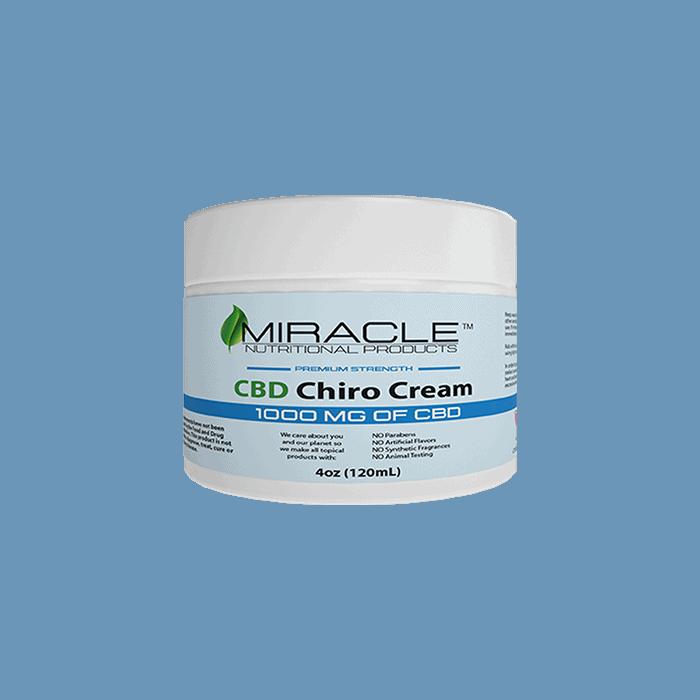 Front view of Miracle CBD Chiro Cream PremiumStrength