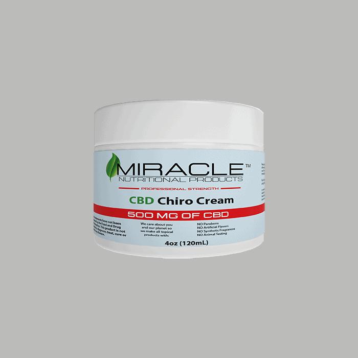 Back view of Miracle CBD Chiro Cream