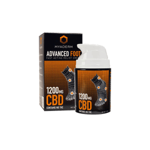 Front view of Myaderm Advanced Foot CBD Cream
