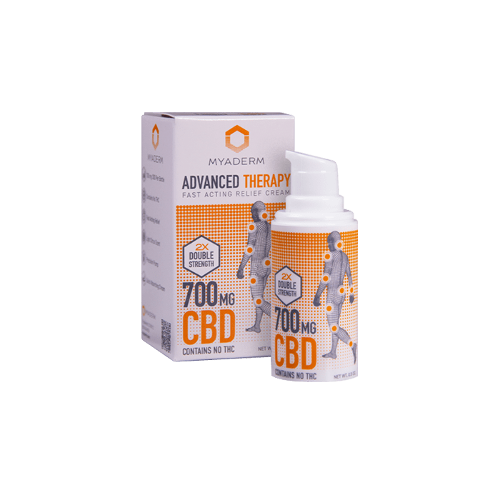 Front view of Myaderm Advanced Therapy CBD Cream