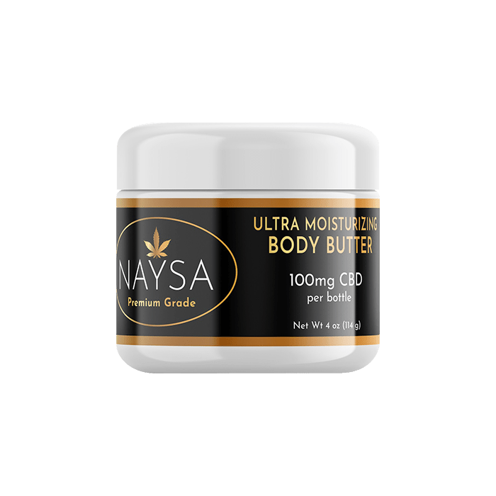 front view of naysa premium grade cbd body butter