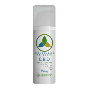 Front view of Nightingale Remedies CBD Relief Cream
