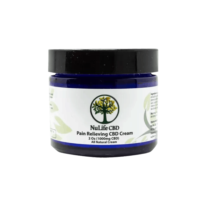 Back view of NuLife CBD Pain Relieving CBD Cream 1000mg