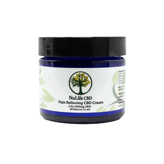 Front view of NuLife CBD Pain Relieving CBD Cream 500mg