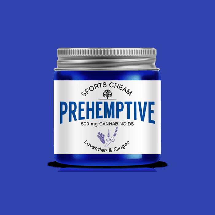 Back view of Prehemptive-Natural-Pain-Relief-CBD-Cream-Lavender-&-Ginger