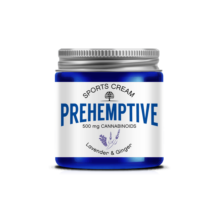 Front view of Prehemptive-Natural-Pain-Relief-CBD-Cream-Lavender-&-Ginger