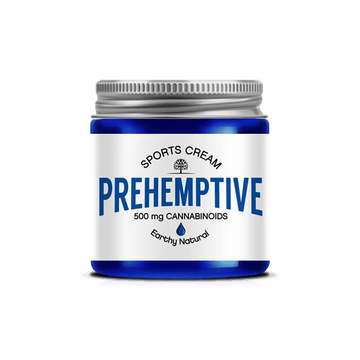 Back view of Prehemptive-Natural-Pain-Relief-CBD-Cream-(No-Essential-Oils)-Earthy-Scent