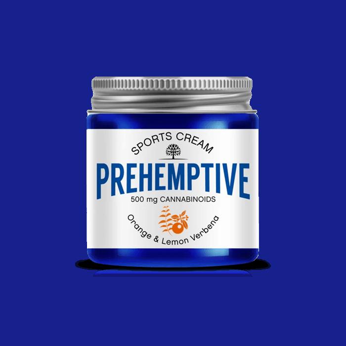 Front view of Prehemptive-Natural-Pain-Relief-CBD-Cream-Orange-&-Lemon-Verbena