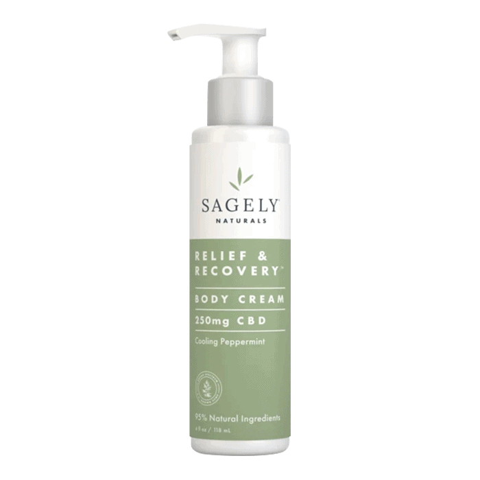 Front view of Sagely-Naturals-CBD-Cream-Relief-&-Recovery