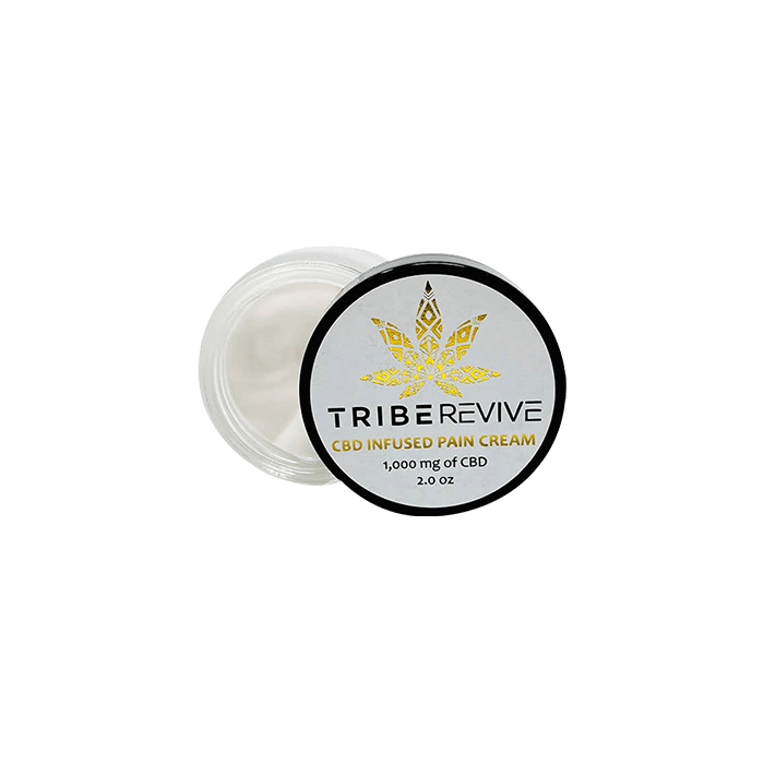 Back view of TribeRevie CBD Infused Pain Cream 1000mg