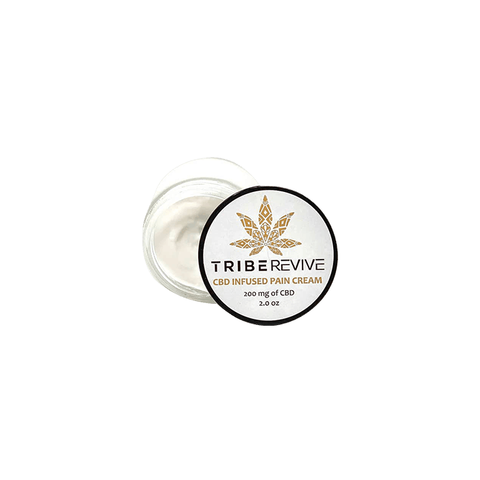 Front view of TribeRevie CBD Infused Pain Cream 200mg