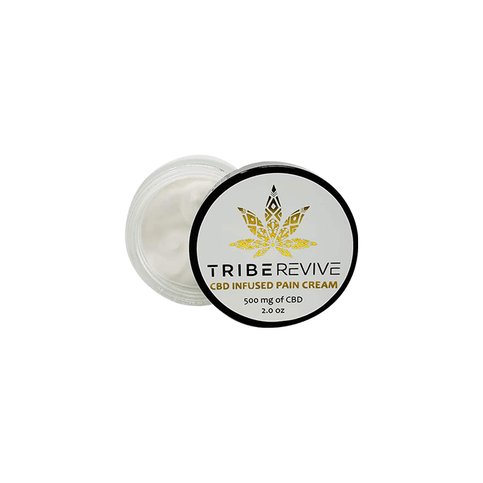 Front view of TribeRevie CBD Infused Pain Cream 500mg
