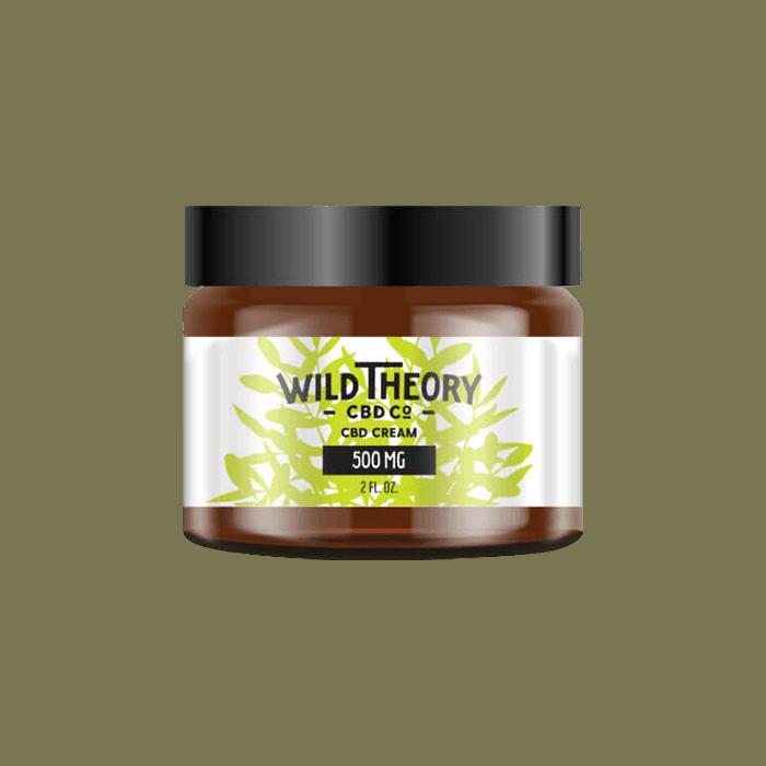 Front view of WildTheoryCBDCo-CBD-Cream-Regular-Strength