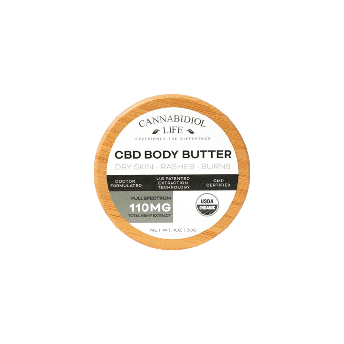 front view of cannabidiol life cbd body butter