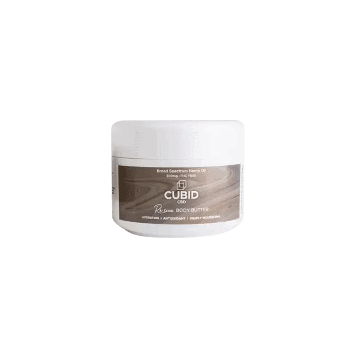 front view of cubid cbd rescue body butter