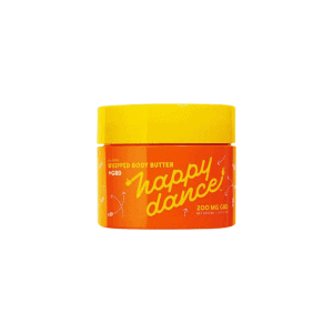 front view of happy dance whipped body butter