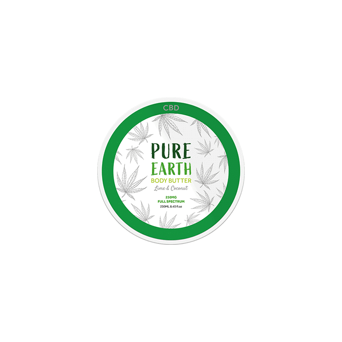 front view of pure earth body butter