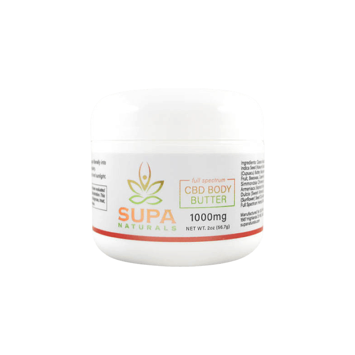 front view of supa naturals cbd body butter