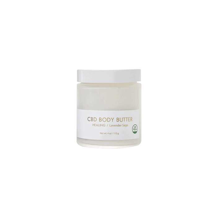 front view of yuzu soap cbd body butter