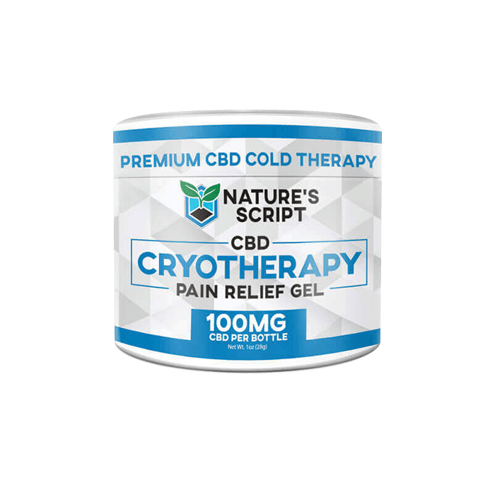Front view of Nature'sScript-CBD-Cryotherapy-pain-relief-gel