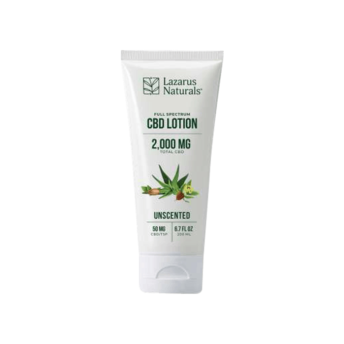 Front view of LazarusNaturals-Full-Spectrum-CBD-Lotion
