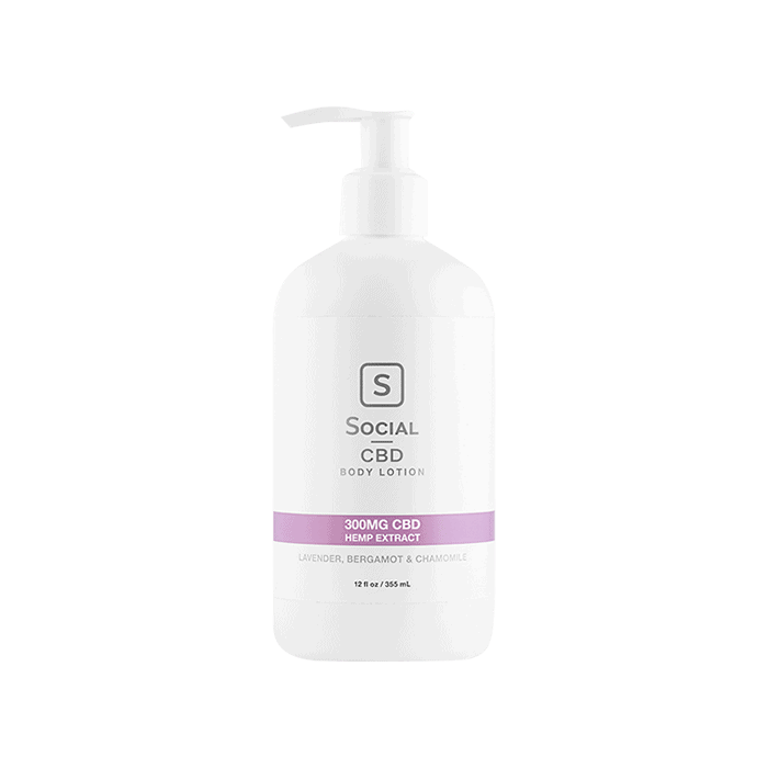 Front view of SocialCBD-Body-Lotion