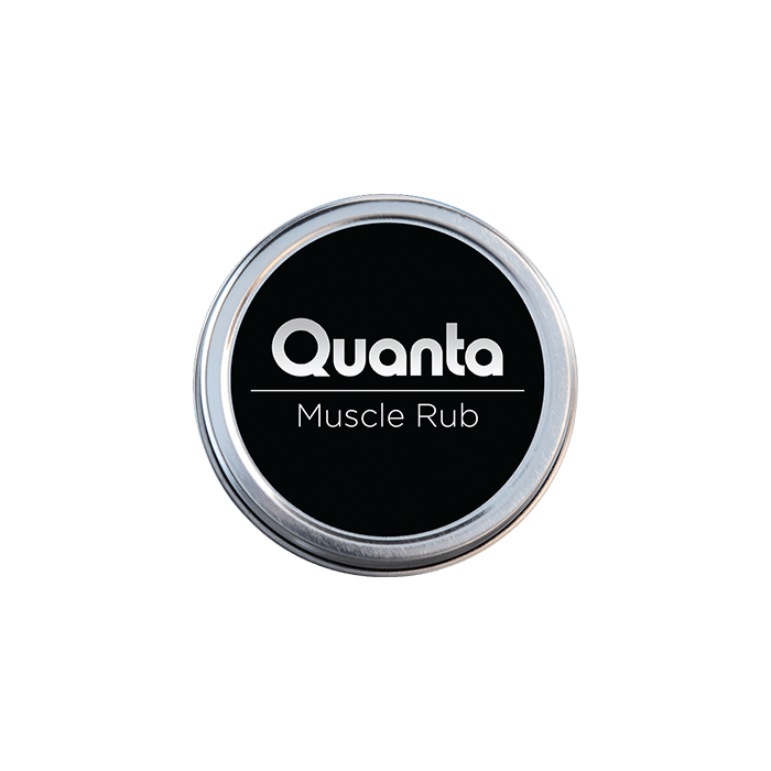 front view of quanta muscle rub