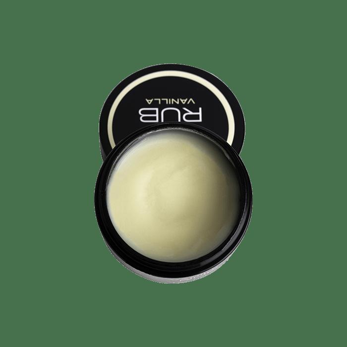 back view of cbd for life vanilla rub