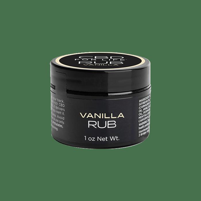 front view of cbd for life vanilla rub