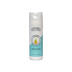 front view of the cbd skincare co. cbd infused muscle therapy