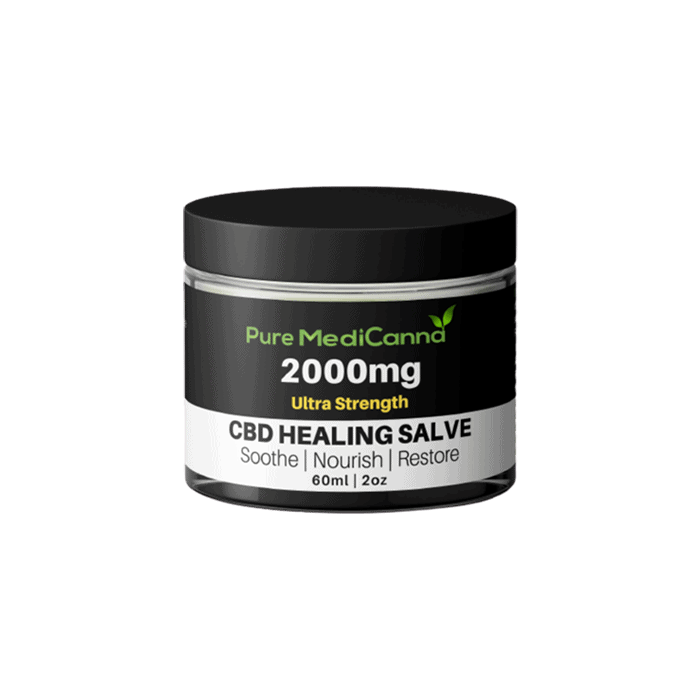 Front view of Pure MediCanna Ultra Strength Healing Salve