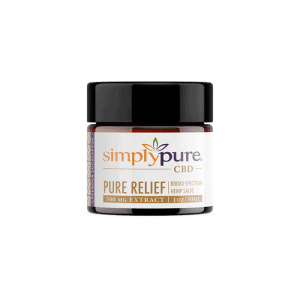 Front view of SimplyPure-CBD-Salve
